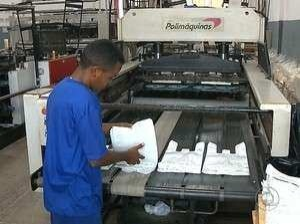indústria sacolas plásticas